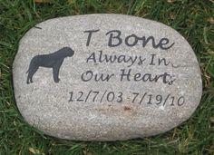 Mastiff Memorial Stone Grave Marker Mastiff Memory Stone 9-10 Inch Memorial Grave Stone Marker