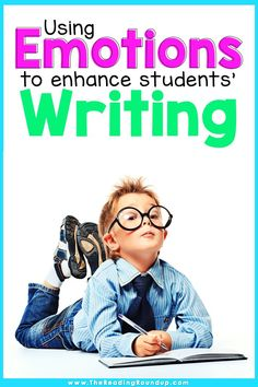 Are you looking for new ways to encourage your elementary students to add more details to their writing? Read these simple ideas for using emotions to improve students' writing. The activities also help increase students' vocabulary and will make writers workshop fun for students and their teachers! Don't miss the FREE printable anchor chart to display in your classroom or add to students' writers notebook. #thereadingroundup #writersworkshop #anchorcharts