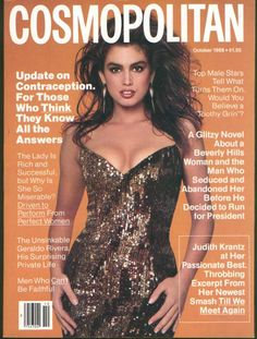 Cindy Crawford  -  Cosmo Oct 1988
