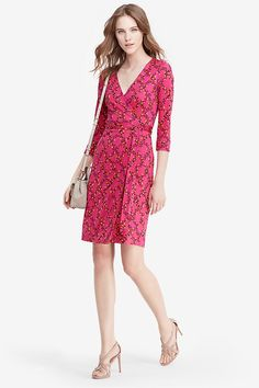 New Julian Two Silk Jersey Wrap Dress | Landing Pages by DVF