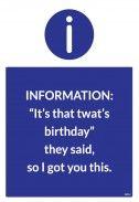 Birthday Cards - They Said |Birthday Card | BC1500