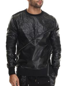 Love this Fleece / Faux Leather Crewneck Sweatshirt W/ Zi... on DrJays and only for $84. Take 20% off your next DrJays purchase (EXCLUSIONS APPLY). Click on the image above to get your discount.