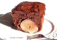 Cake surprise chocolat et poire : la recette