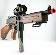 RED DOT Rifle Airsoft Gun 300-FPS Spring Airsoft Submachine Airsoft Gun