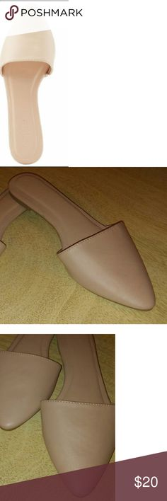 Simply Lovely Little Mules. New without tags Charlotte Russe pointed toe mule flats. Very pretty nude color that you can wear with so many things...shorts, pants, leggings etc Soft faux leather all man made material and lightly cushioned insoles. Charlotte Russe Shoes Flats & Loafers