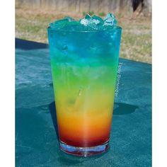 THE PERFECT RAINBOW Red:½ oz (15ml) Grenadine½ oz (15ml) Strawberry Liqueur Orange:¾ oz (22ml) Pineapple JuiceSplash of Grenadine Yellow:1 ½ oz (45ml) Pineapple Juice½ oz (15ml) Lemonade½ oz (15ml) Triple Sec Green:1 oz (30ml) Midori¾ oz (22ml) LemonadeSplash of Vodka Blue:1 oz (30ml) Vodka½ oz (15ml) Blue Curacao