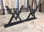 16 INCH TALL STEEL COFFEE TABLE BASE SET!