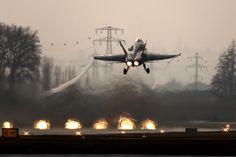 Dusk Launch, F/A-18C Hornet, Swiss Air Force