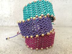 Boho Macrame bracelet by vbest on Etsy