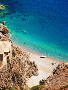 | The secret beach on Kythira island.