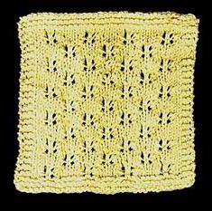 Butterfly Lace Stitch Cloth Knitting Pattern