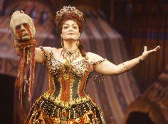 Patricia Phillips as Carlotta Giudicelli in The Phantom of the Opera.