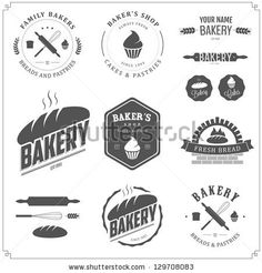 Set of bakery logos, labels, badges and design elements by Ivan Baranov, via Shutterstock