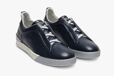 Ermenegildo Zegna Slip-On Sneaker in Blue