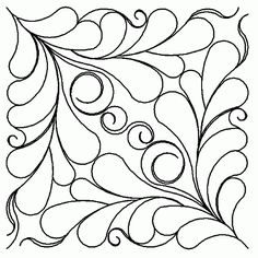 from stitch happy diago feather  Kim Williams via Jackie Dove onto Quilts - Patterns, Tutorials & Crafts