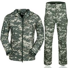 (27.14$)  Watch now - http://aitm9.worlditems.win/all/product.php?id=32625039729 - Camouflage hunting clothes Shark skin soft shell lurkers tad v 4.0 outdoor tactical military fleece jacket+ uniform pants suits
