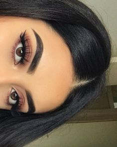 eyeshadow makeup eyeshadow makeup ❤️ Eye Makeup ❤️ – MY WORLD Cute Makeup Looks, Makeup Eye Looks, Makeup For Brown Eyes, Eyeshadow Looks, Pretty Makeup, Eyeshadow Makeup, Brown Eyeshadow, Flawless Makeup, Glam Makeup