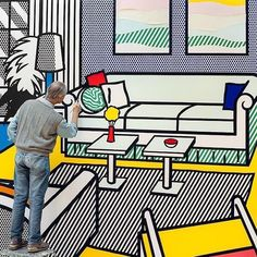 An integral figure of the Pop Art movement, Roy Lichtenstein emerged as one of the preeminent artists of the and Building a massive collection of vibrant pieces, Lichtenstein's work was heavily influenced by comic book aesthetics and popular… Roy Lichtenstein, Jasper Johns, Saatchi Gallery, Pop Art, Andy Warhol, Artist Art, Artist At Work, Artist Painting, Richard Hamilton