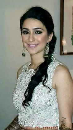 Nude looks with side messy braid to add the touch of traditional ceremony - my gorgeous bride Anuja