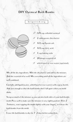 Oatmeal Bath Bombs Recipe – Luxurious and Easy DIY Bath Bombs # Easy DIY bath bombs Oatmeal Bath Bombs Recipe – Luxurious and Easy DIY Bath Bombs Bubble Bath Homemade, Homemade Bath Bombs, Sugar Scrub Homemade, Diy Bath Bombs Easy, Best Bath Bombs, Oatmeal Bath, Bombe Recipe, Bath Bomb Recipes, Easy Diy