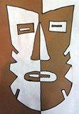 Symmetrical balance lesson: Artsonia Art Exhibit :: Symmetrical Balance African Masks Tribal