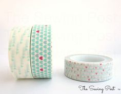 Washi Tape Set: Mint Love