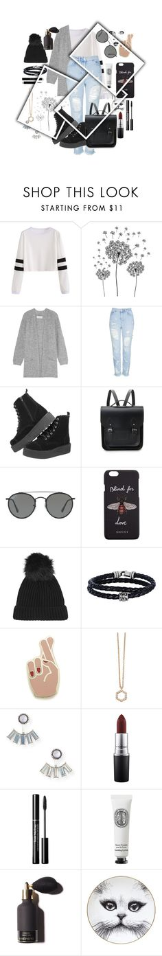 """Dia Cinza"" by thais-santana-1 ❤ liked on Polyvore featuring jcp, By Malene Birger, Topshop, The Cambridge Satchel Company, GE, Ray-Ban, Gucci, Phillip Gavriel, Georgia Perry and Astley Clarke"