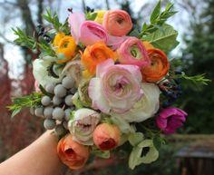 anemone ranunculus bouquet