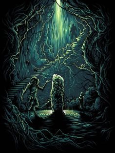 "Dan Mumford ""I am the mountain, the forest, and the earth."" Framed Print"