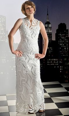 MADE TO ORDER  Crochet Dress  custom made, hand made, crochet -   cotton or viscose