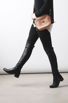 Totally want these boots!! Stuart Weitzman Reserve (it's the 5050 boot with a little more heel) The Black Boot:Stuart Weitzman Reserve Boots H&M Sweater (similar) | Equipment Blouse […]