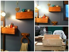 My wife wanted shelves for her facial and feminine products. I've made those shelves for our bathroom with recycled wooden pallets.…