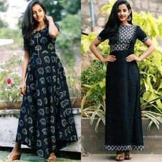 Latest kurti designs patterns - ArtsyCraftsyDad Gown Pattern, Dress Patterns, Indian Dresses, Indian Outfits, Western Outfits, Kurta Designs, Blouse Designs, Cotton Gowns, Love Clothing
