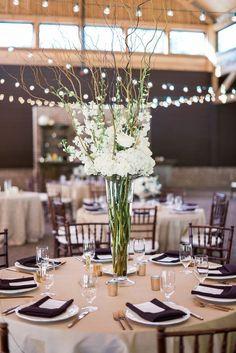 Rustic elegant wedding reception idea; photo: A.J. Dunlap Photography