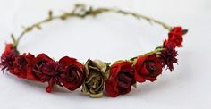 Hey, I found this really awesome Etsy listing at https://www.etsy.com/listing/249062190/red-roses-flower-headband-red-flower