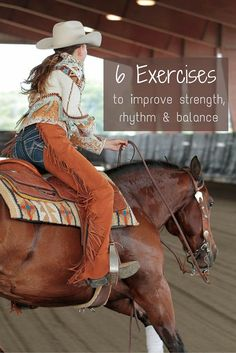Check out these six equestrian exercises to improve your strength, rhythm and balance while horseback riding.                                                                                                                                                                                 More