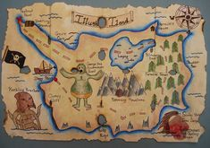 "Grade 7, 8 and 9 students created these detailed Treasure Maps.  I saw this lesson on a Canadian arts & crafts TV show, "" Art Zooka ""..."