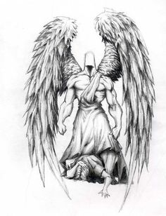 guardian angel abstract tattoo | kat von d portrait tattoos chest tattoo quotes for men mexican tattoo ...