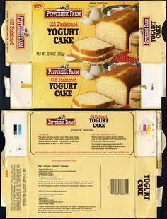 Pepperidge Farm - Old Fashioned Yogurt Cake box - 1970's | Flickr - Photo Sharing!