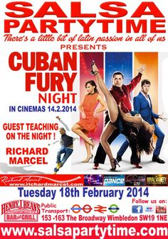BBC STRICTLY COME DANCING's RICHARD MARCEL, UK's TOP CHOREOGRAPHER for TV, MOVIES and THE STARS on TUESDAY 18th FEBRUARY 2014  SalsaPartyTime @ Henry J Beans, 153-163, The Broadway, Wimbledon, London SW19 1NE  Richard Marcel, UK's TOP CHOREOGRAPHER for TV, MOVIES and THE STARS will be joining SalsaPartyTime as our very special guest teacher on Tuesday 18th February. (All admission prices remain the same)  We're going to Havana a good time.