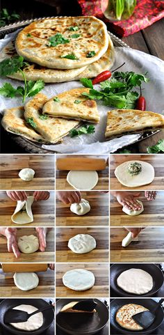 Aloo Paratha Indian Potato Stuffed Flatbread - insanely delicious, and a simple yeast-free dough!