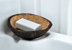 Coconut soap! I love it! You could totally use coconut milk, coconut oil, maybe even cocnut water...and don't forget the shredded coconut on top! I'm liking this idea. :D Coconut Soap, Coconut Shell, Coconut Milk, Wood Crafts, Diy Crafts, Shredded Coconut, Craft Activities, Activity Ideas, Soap Making