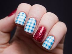 Costume Nails: Dorothy from The Wizard of Oz