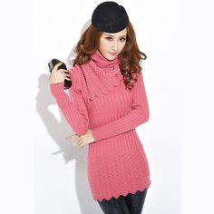 2012 Women's Winter Thick Slim Medium-long Bottoming Pullover Sweater