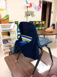 DIY Classroom Chair Pockets and Seat Sacks