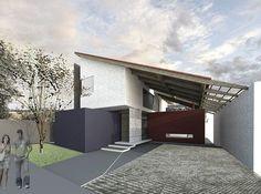 Estudo em Jacareí-SP. Terreno de 250m quadrados. #architecture #urban #arquitetura #street #perspective  #roof #pensamentos #art #attractive #concret #brick #houses #project #sustainability #residencia #tree #arquitectura #archdaily #archilovers #archdailybr