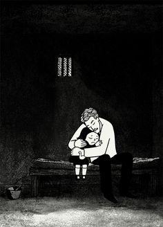one of the most beautiful shots in Persepolis, it it's not just emotional and tense but also visually straking