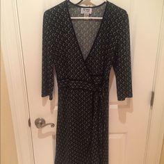 Vintage Wrap Dress Size 8