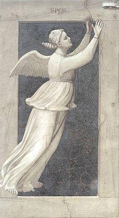 Giotto Di Bondone  | The Seven Virtues: Hope, 1337  |   Scrovegni Chapel | Padua, Veneto, Italy