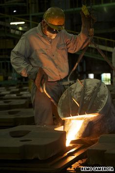 Foundry Making Manhole Covers-Photo by Remo Camerota